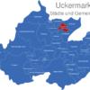 Map Landkreis Uckermark Carmzow-Wallmow