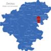 Map Landkreis Zwickau Bernsdorf