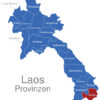 Map Laos Provinzen Attapeu