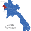 Map Laos Provinzen Bokeo