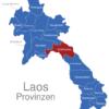 Map Laos Provinzen Bolikhamsai