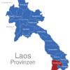 Map Laos Provinzen Champasak