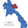 Map Laos Provinzen Houaphanh