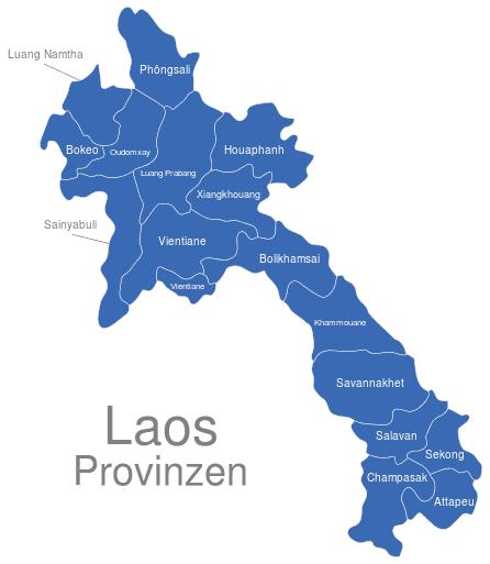 Laos Provinzen