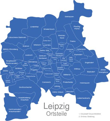 Leipzig Ortsteile