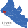 Map Liberia Regionen Bomi_County