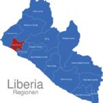 Map Liberia Regionen Bomi_County