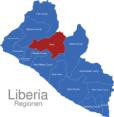 Map Liberia Regionen Bong