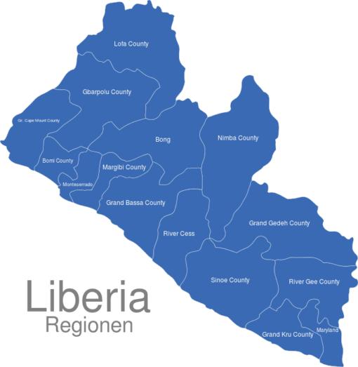 Liberia Regionen