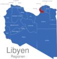 Map Libyen Regionen Bengasi