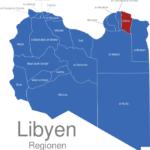 Map Libyen Regionen Darna