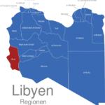 Map Libyen Regionen Ghat