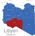 Map Libyen Regionen Murzuq