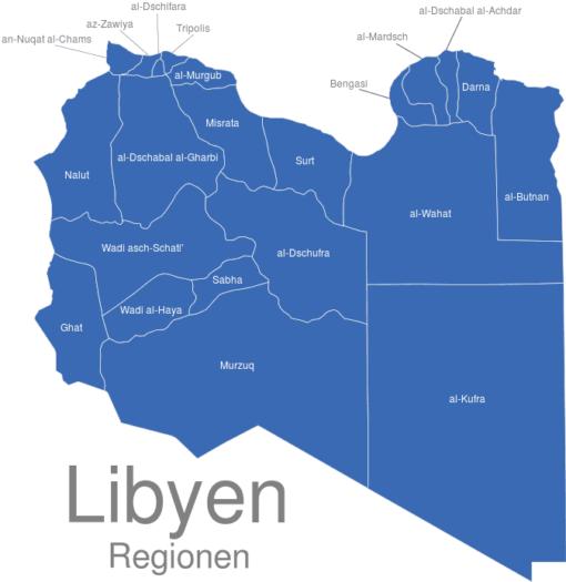 Libyen Regionen
