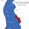 Map Liechtenstein Gemeinden Balzers