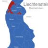 Map Liechtenstein Gemeinden Gamprin