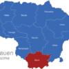 Map Litauen Bezirke Alytus