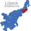 Map Lübeck Stadtbezirke Alt-Kucknitz