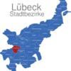 Map Lübeck Stadtbezirke Alt-Moisling