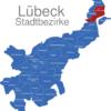 Map Lübeck Stadtbezirke Alt-Travemunde