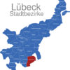 Map Lübeck Stadtbezirke Blankensee