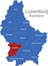 Map Luxemburg Bezirke Capellen