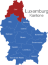 Map Luxemburg Bezirke Clerf