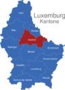 Map Luxemburg Bezirke Diekirch