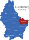 Map Luxemburg Bezirke Echternach