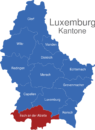 Map Luxemburg Bezirke Esch_an_der_Alzette
