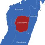 Map Madagaskar Provinzen Antananarivo