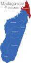 Map Madagaskar Provinzen Antsiranana