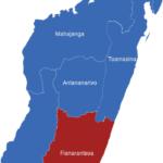 Map Madagaskar Provinzen Fianarantsoa
