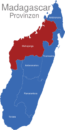 Map Madagaskar Provinzen Mahajanga