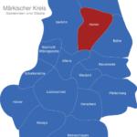 Map Märkischer Kreis Hemer