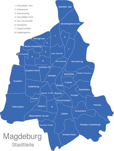 Magdeburg Stadtteile
