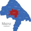 Map Mainz Stadtteile Bretzenheim
