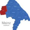 Map Mainz Stadtteile Finthen