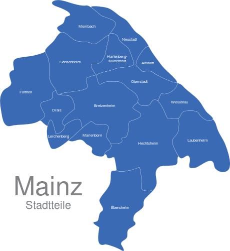 Mainz Stadtteile