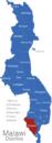 Map Malawi Distrikte Chikwawa