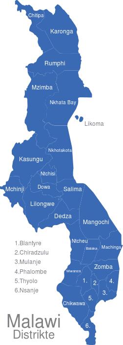 Malawi Distrikte
