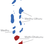 Map Malediven Provinzen Mathi-Dhekunu