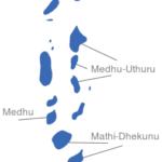 Map Malediven Provinzen Medhu-Dhekunu