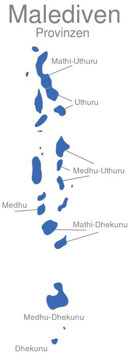 Malediven Provinzen