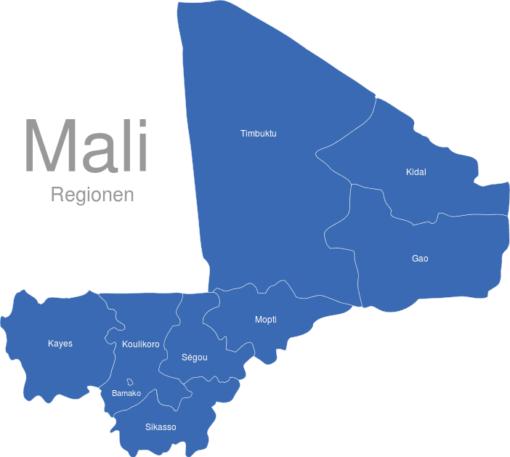 Mali Regionen