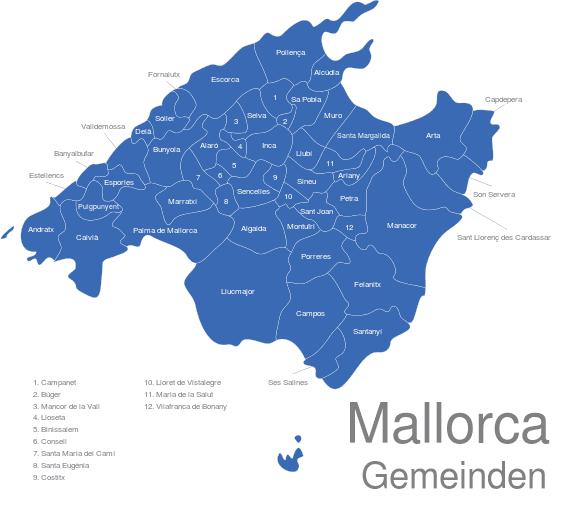 mallorca karte Mallorca Karte interaktive Landkarte | Image maps.de mallorca karte