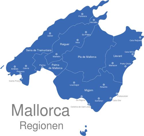 Mallorca Karte Städte
