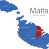 Map Malta Bezirke Northern
