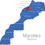 Map Marokko Regionen Chaouia-Ouardigha