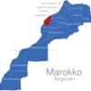Map Marokko Regionen Doukala-Abda